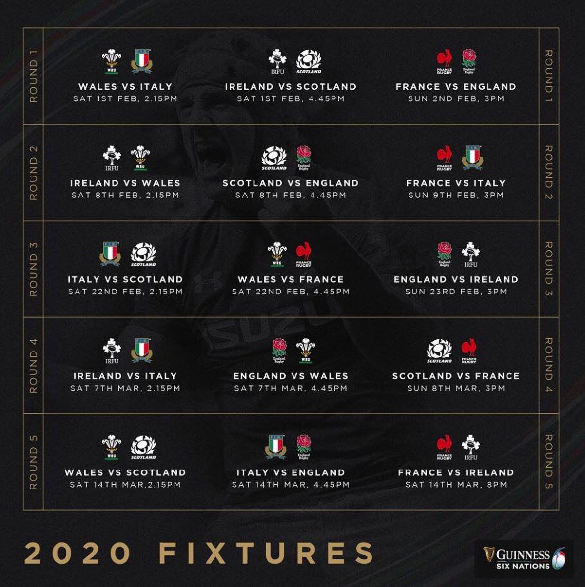 Royal Oak at Cromhall - 6 Nations Fixtures 2020